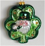 Irish Santa on Shamrock