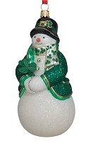 Snowman with Shamrock