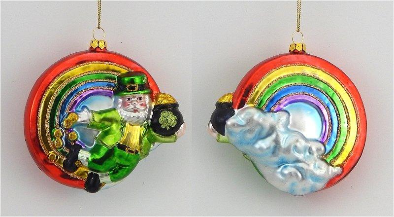 Blown glass irish ornaments pg